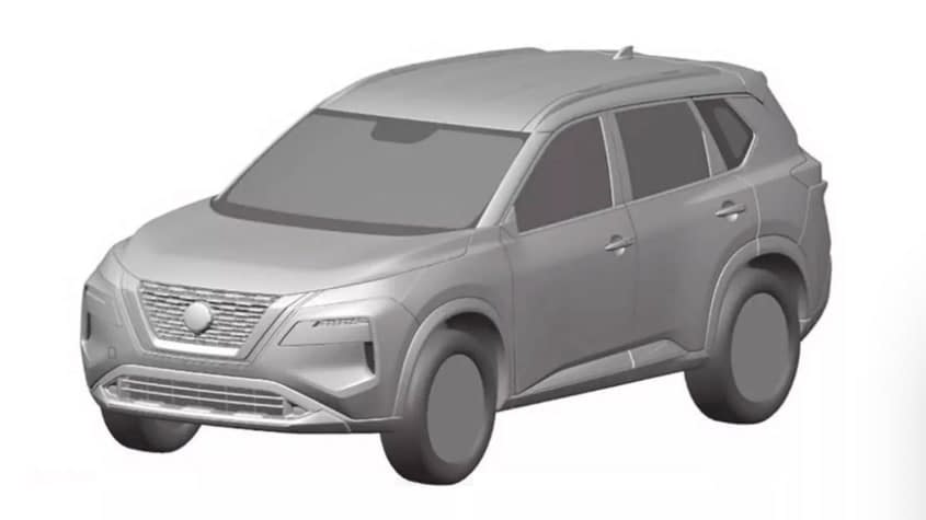 2021 nissan x trail previewed in design patent filing
